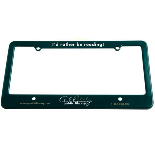 License Plate Frame w/ 4 Holes & Straight Bottom