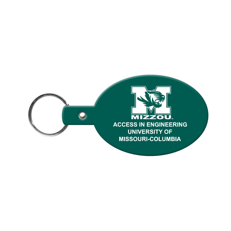 Oval Flexible Key Tag