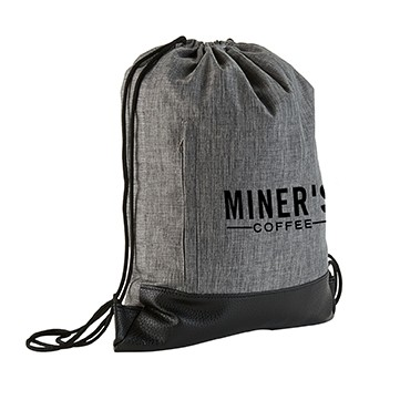 Heathered Drawstring Backpack
