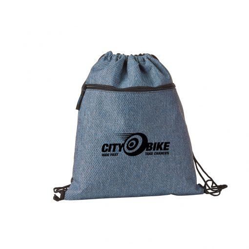 Twill Drawstring Backpack