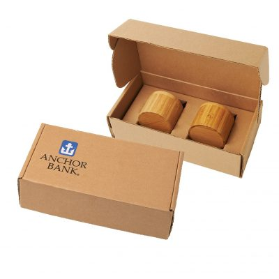 Bamboo Slide-Lid Container Gift Box Set