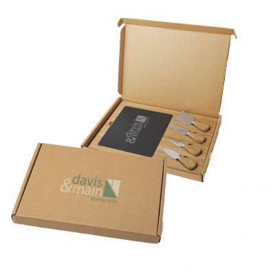 Slate Cheese Board Gift Box Set