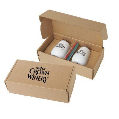 Stainless Steel Stemless Wine Glasses & Wine Marker Gift Box Set