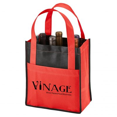 Toscana Six Bottle Non-Woven Wine Tote Bag